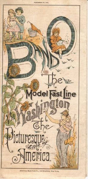 B And O. The Model Fast Line. Via Washington. The Picturesque Line Of America