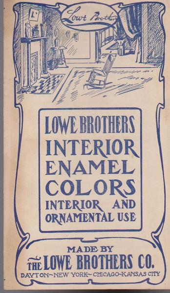 Lowe Brothers Interior Enamel Colors - 1945