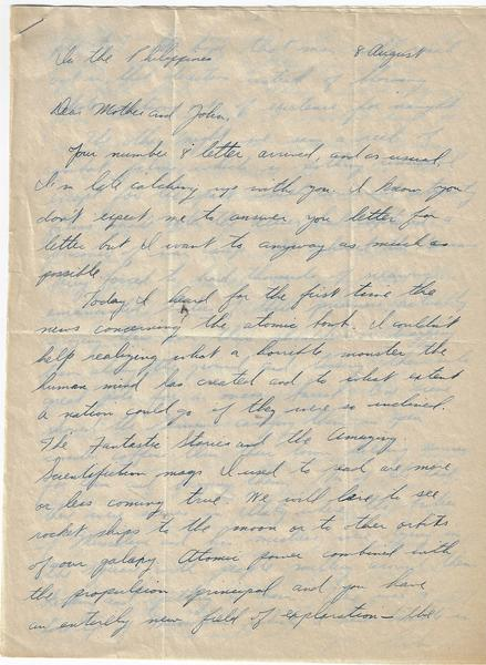Letters of a WWII Soldier From Training to the Pacific Theater