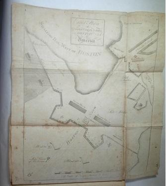 Boston Battle Plan In 1775 In The Magazine Edited by Thomas Paine