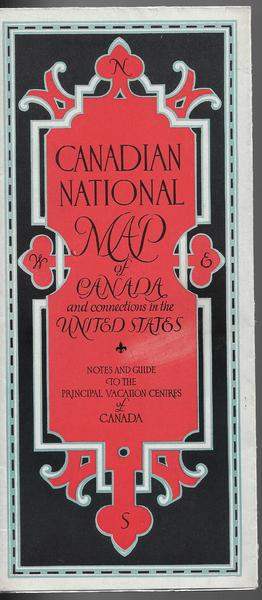 Canadian national Map of Canada - 1929