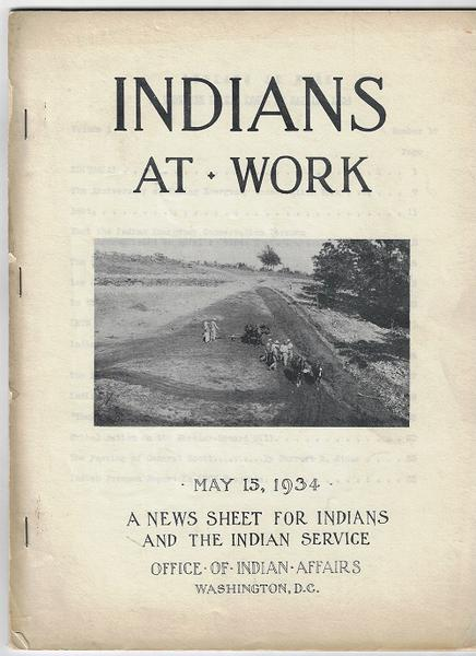 The Magazine - Indians At Work - 4 Issues - 1934