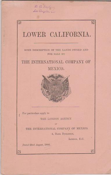 Lower California - Mexico Land Promotional