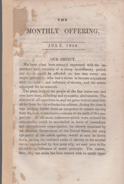 The Monthly Offering - July 1840