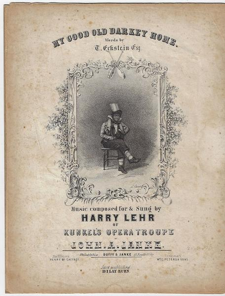 Confederate Sheet Music - My Good Old Darkey Home