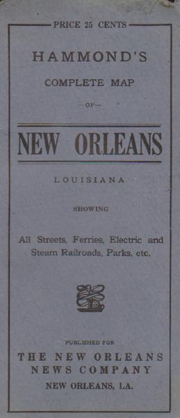 New Orleans Map - 1908