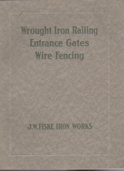 Fiske - Wrought Iron Railings - Entrance Gates - Wire Fencing - 1915